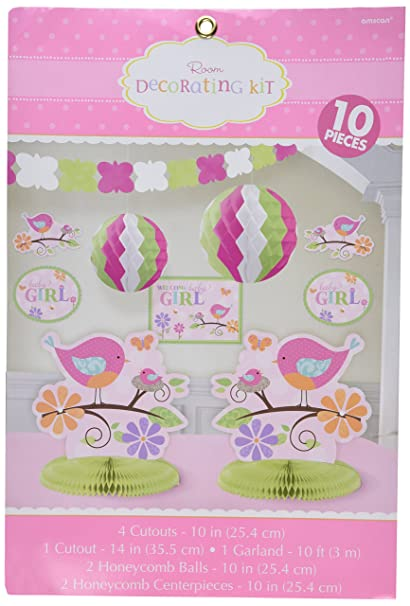 Amazon Com Tweet Baby Room Decorating Kit Pink Girl Shower Bird