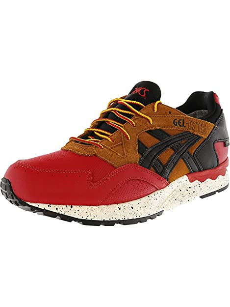 sports shoes 3e6a2 a5542 ASICS Men s Gel-Lyte V G-Tx Red Black Ankle-High Leather