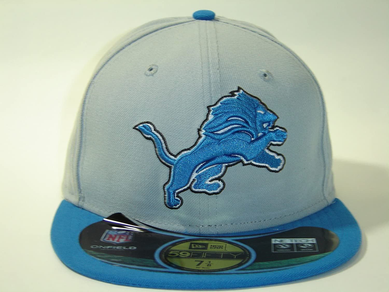 Amazon.com   New Era NFL Detroit Lions Custom Gray Size Cap 59fifty NewEra  Select Cap Size  7 1 2   Sports Fan Baseball Caps   Sports   Outdoors f7509817999c