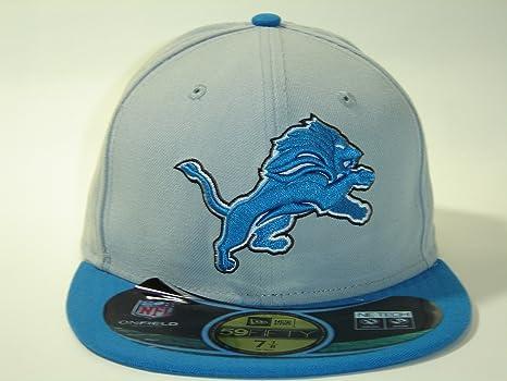 New Era NFL Detroit Lions Custom Gray Size Cap 59fifty NewEra Select Cap  Size  7 f23393893cea