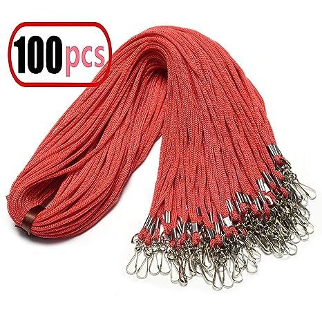 Amazon.com: 100 cordones morados con clip giratorio de 20.5 ...