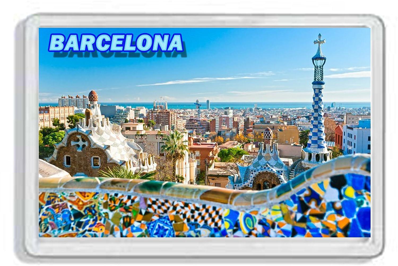 AWS - Imán de PVC duro, diseño de Barcelona, España, recordatorio ...