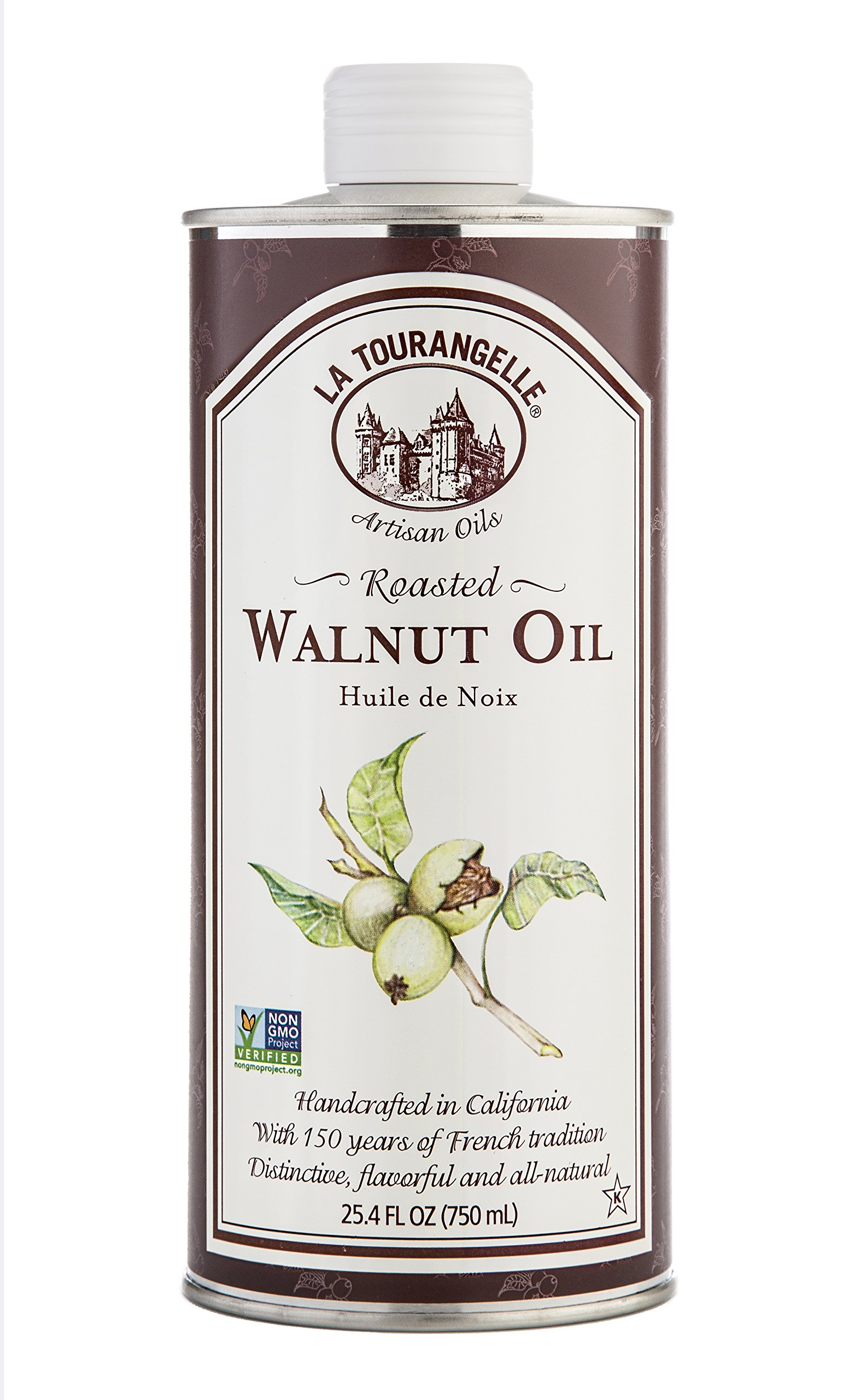 La Tourangelle Roasted Walnut Oil 25.4 Fl. Oz., All-Natural, Artisanal, Great for Salads, Grilled Fish and Meat, or Pasta