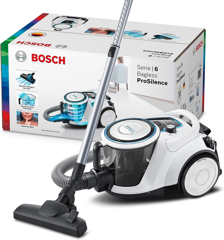 Bosch Hausgeräte BGC41LSIL Aspiradora sin Bolsa, Blanco: Amazon.es: Hogar