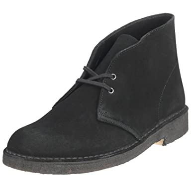 Desert Boot: Black Suede
