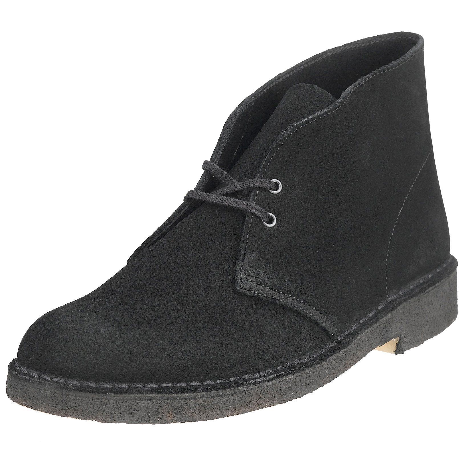 Clarks Originals Men's Desert Boot, Black Suede, 8 M