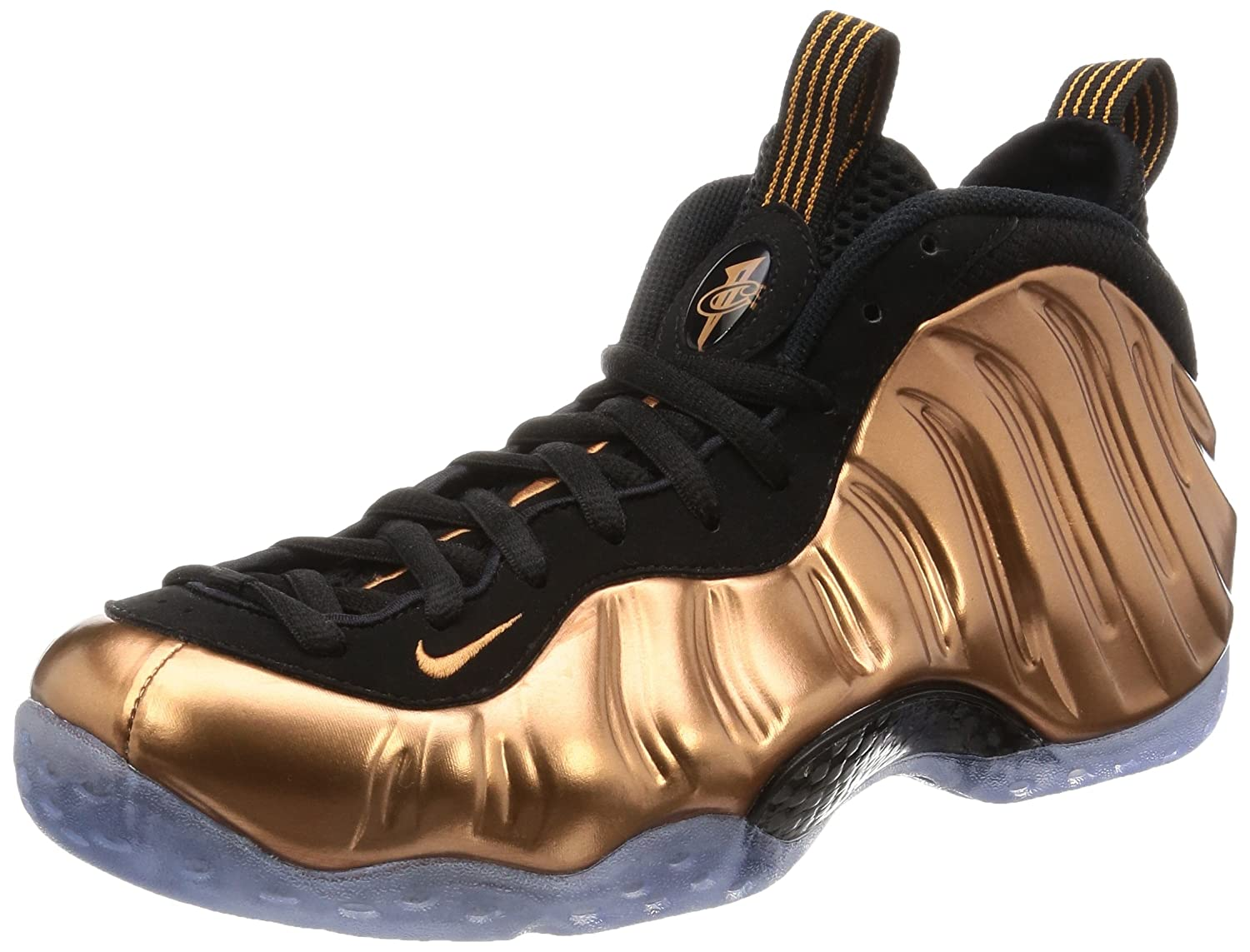 Nike Herren Air Foamposite One Basketballschuhe  75|Black, Metallic Copper-black