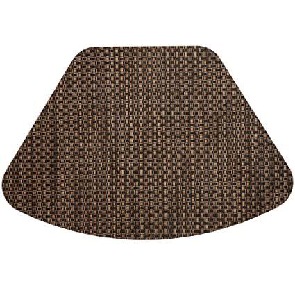 Exceptionnel Set Of 2 Driftwood (Black U0026 Tan) Wipeable Wedge Shaped Placemats For Round