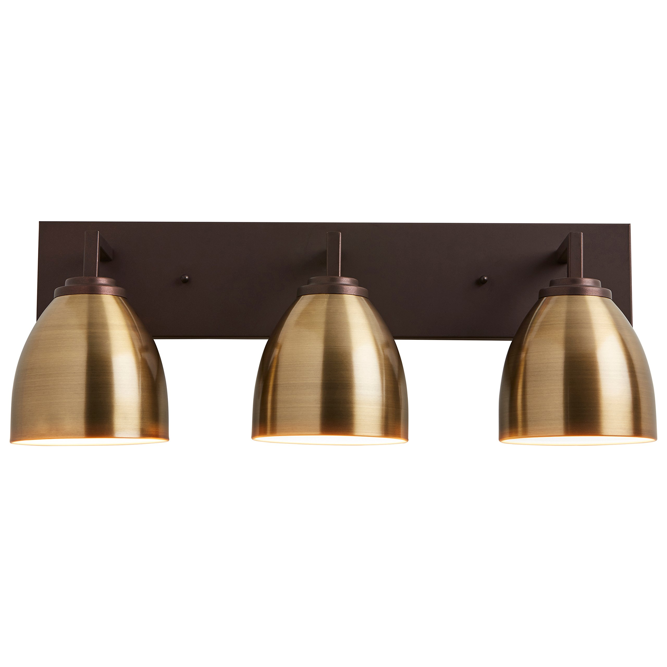 Stone & Beam Contemporary 3-Light Vanity Fixture, 9.25''H, With Bulbs, Oil Rubbed Bronze