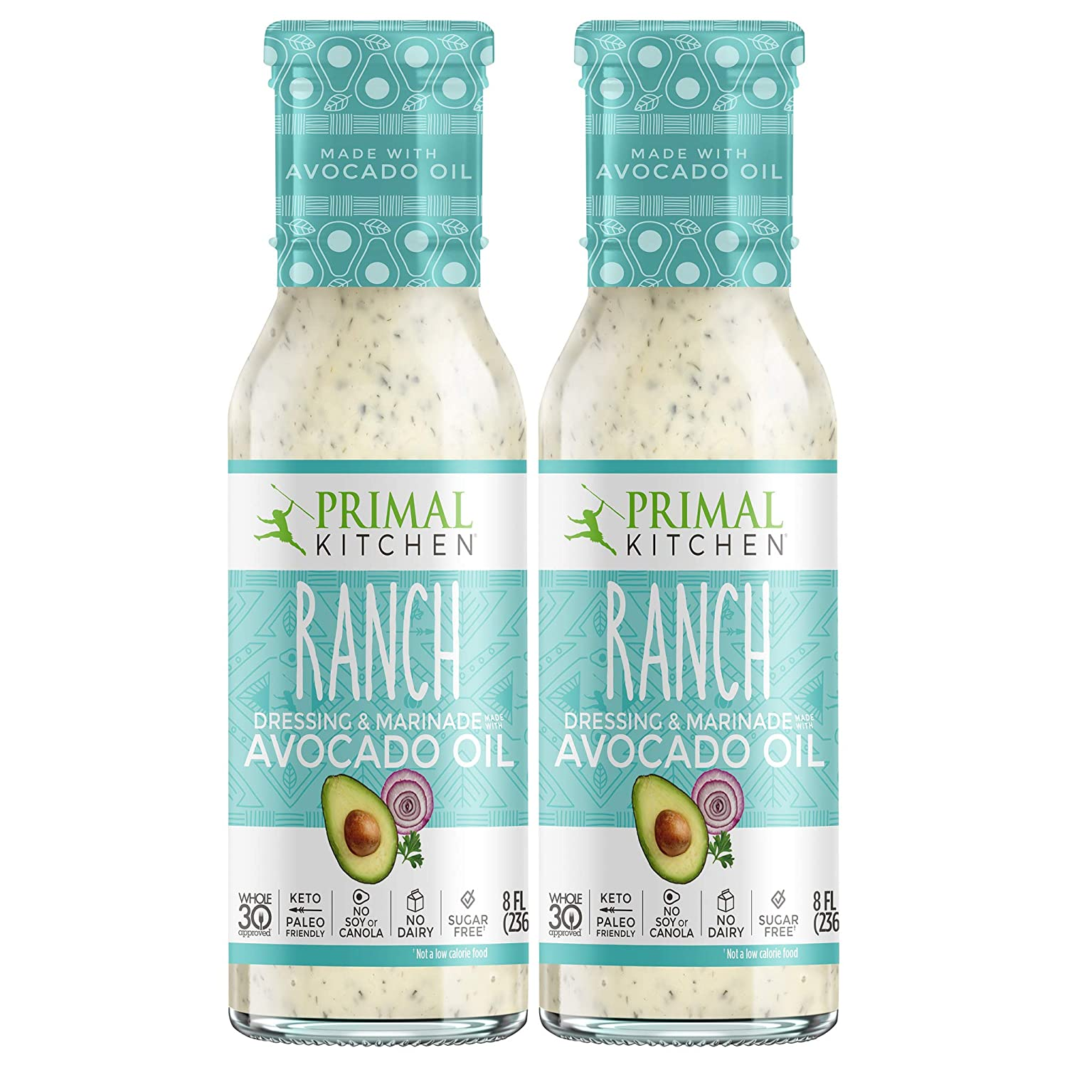 Primal Kitchen Ranch >> Primal Kitchen Ranch Avocado Oil Based Dressing And Marinade Whole30 And Paleo Approved 2 Count