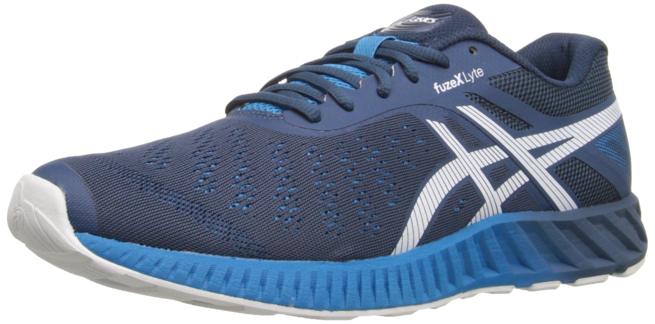 ASICS Men's Fuzex Lyte Running Shoe, Ink/White/Methyl Blue, 10 M US