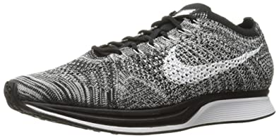 NIKE Men's Flyknit Racer, Oreo-Black/White, ...