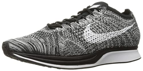 Nike Flyknit Racer 526628 012 Oreo BlackWhite Men's Running Shoes