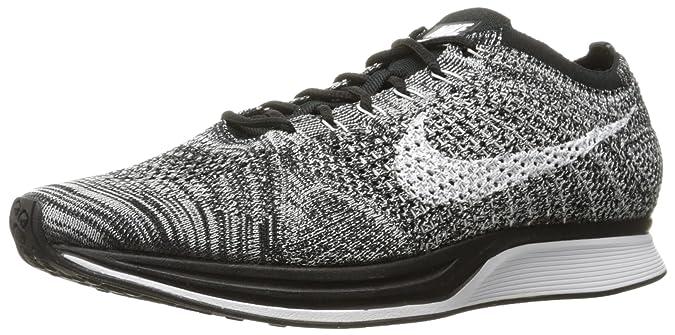 Amazon.com | Nike Flyknit Racer - Oreo -526628-012 Black, White | Running