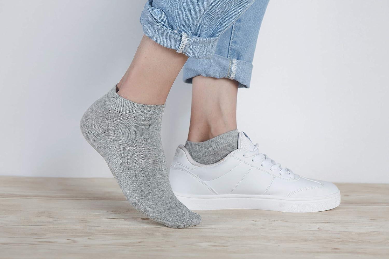 FALARY Sneaker Socken Herren Damen Sneakersocken Kurze 10 Paar Baumwolle Atmungsaktive Halbsocken Unisex