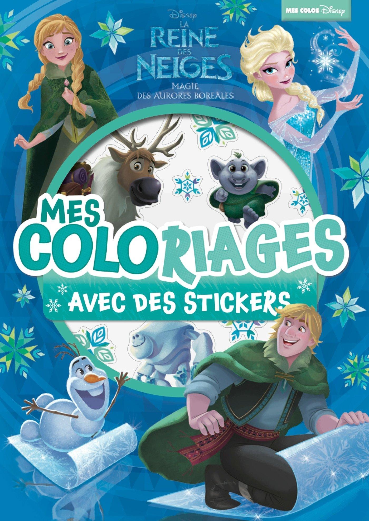 Vanity Coloriage Reine Des Neiges.Reine Des Neiges Mes Coloriages Avec Stickers Aurores
