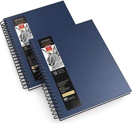 "Arteza Cuadernos de dibujo, 9x12"" (22,9 x 30,5 cm), pack de 2 ..."