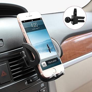 Soporte Móvil Coche Ventilación Universal, Avolare Ajustable 360 Grados Rotación Porta Movil para Rejillas de