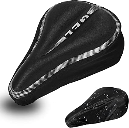 Gel Bike Seat Cover Bike Saddle Cushion with Water/&Dust Resistant Cover
