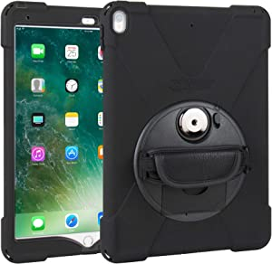 "The Joy Factory aXtion Bold MP Water-Resistant Rugged Shockproof Case for iPad Pro 10.5"" and iPad Air 3, Built-In Screen Protector, Hand Strap, Kickstand (CWA702)"
