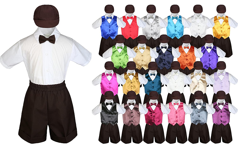 Amazon.com: Baby Kid bebé Boy Traje de vestir café Camisa ...