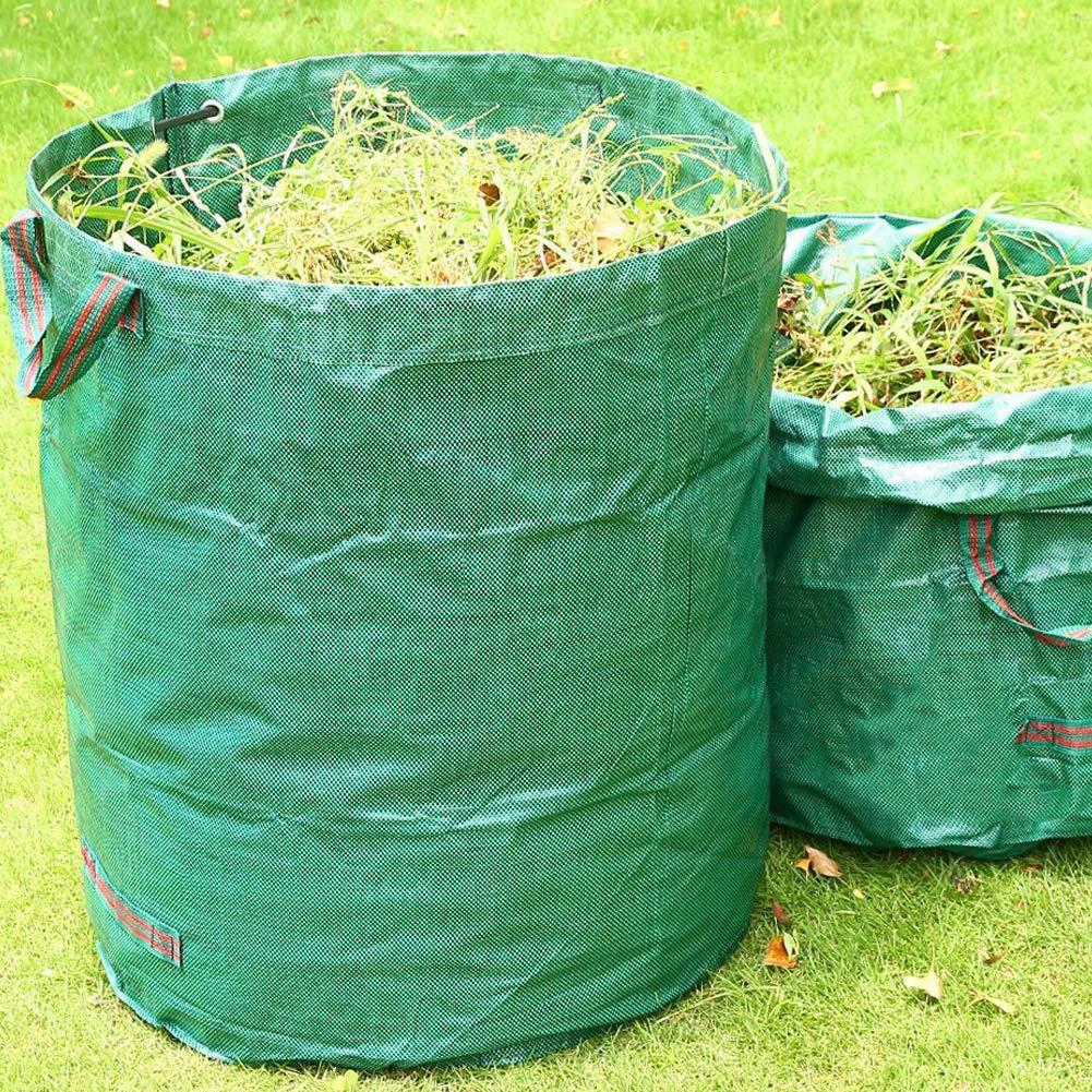 JLMAX Durable 2-Pack 72 Gallons Resusable Garden Bag,Heavy Duty Gardening Bags Durable & Multipurpose Lawn Pool Garden Leaf Waste Bag