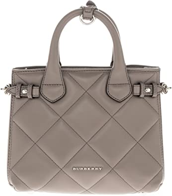 Burberry Women S Baby Banner Grey Tote In Quilted Lambskin Amazon Ca Shoes Handbags