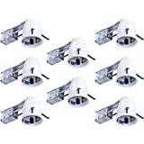 """Hyperikon 4"""" Recessed Remodel Can, Air Tight Housing, Line Voltage, LED Recessed Lighting Retrofit Kit with TP24 Connector and E26 Socket, 50W Maximum, UL-Listed (8 Pack)"""