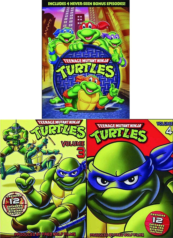 Turtle Triple-Bonus Pack Teenage Mutant Ninja Turtles: Cowabunga! Cartoon TMNT DVD set Original Season 3&4 Leo / Donnatello / Mickey & Ralph original episodes half shell heroes