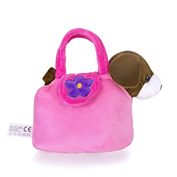 f306361818 Amazon.com : Lazada Girls' Plush Puppy Purse Toddler Carrying Bag ...