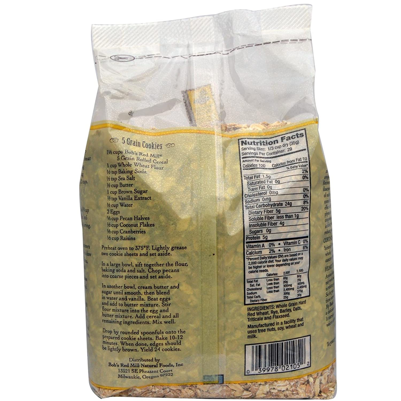 Amazon.com: Grano enrollado, 5 Cereales caliente, 36 oz (2.2 ...