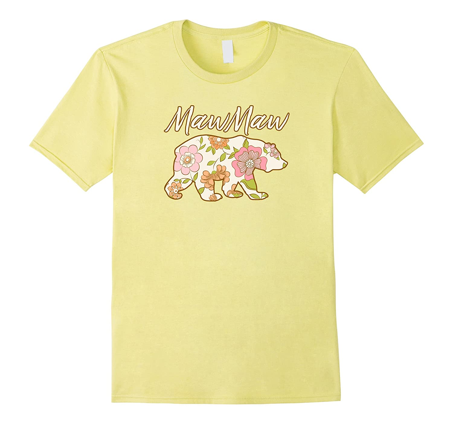 MawMaw Bear Floral T Shirt - Fun Matching Family Gift Tee-CD