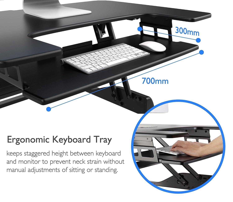 1home Steh-Sitz-hö henverstellbarer Schreibtisch Konverter