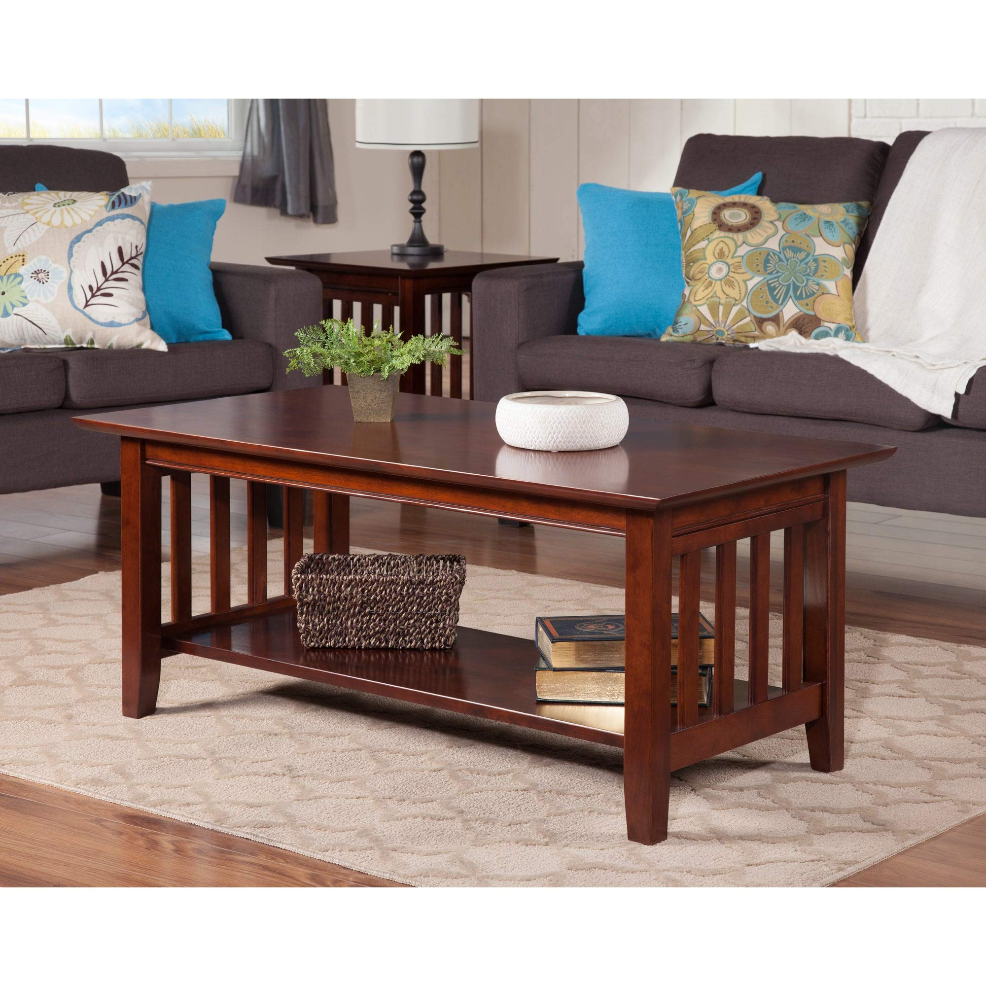 Atlantic Furniture Mission Coffee Table Walnut by Atlantic Furniture