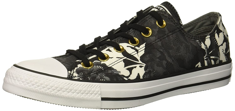 Converse Women's Chuck Taylor All Star Floral Print Low Top Sneaker B07CR8VJSN 9 B(M) US|Black/Mason/White