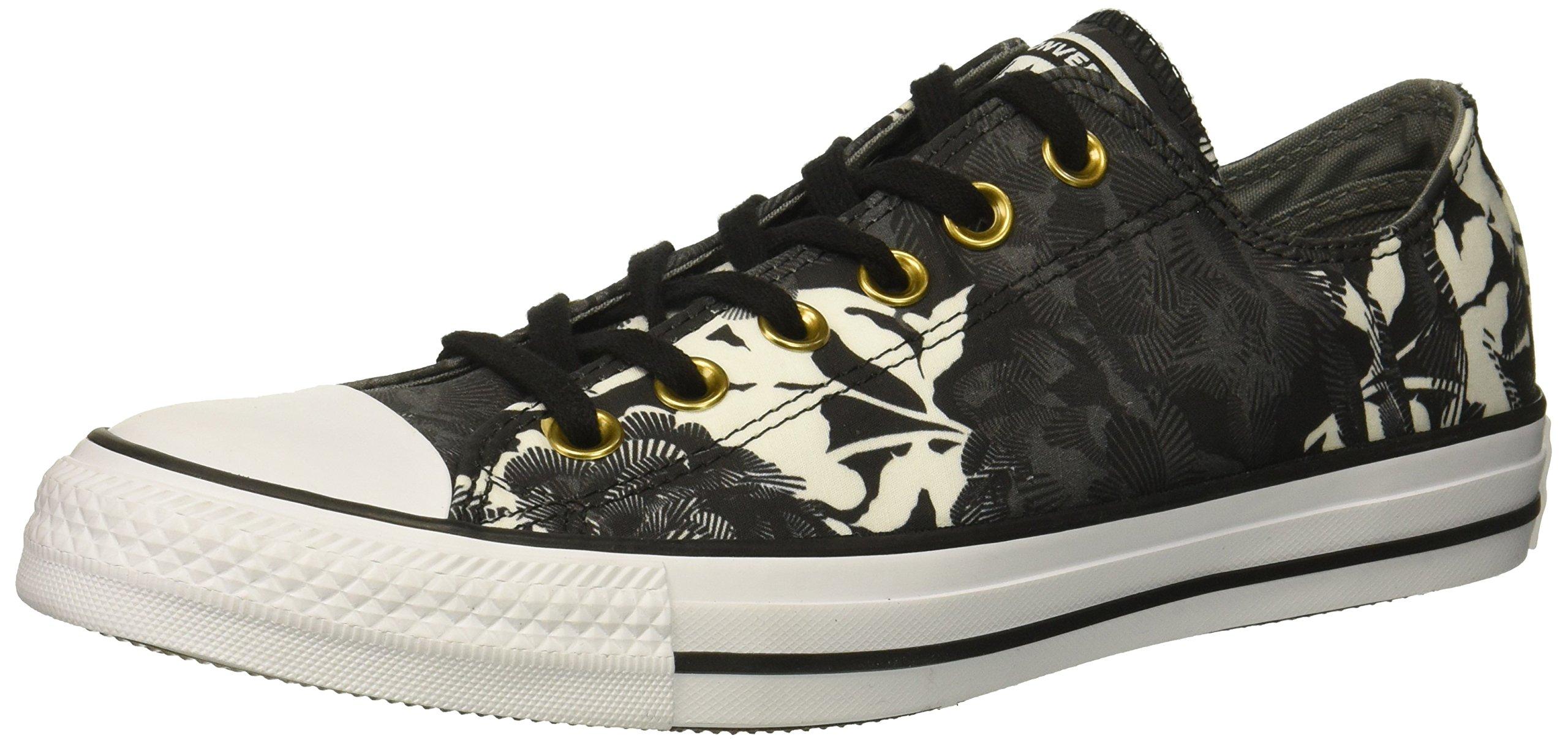 Converse Women's Chuck Taylor All Star Floral Print Low Top Sneaker, Black/Mason/White, 9 M US