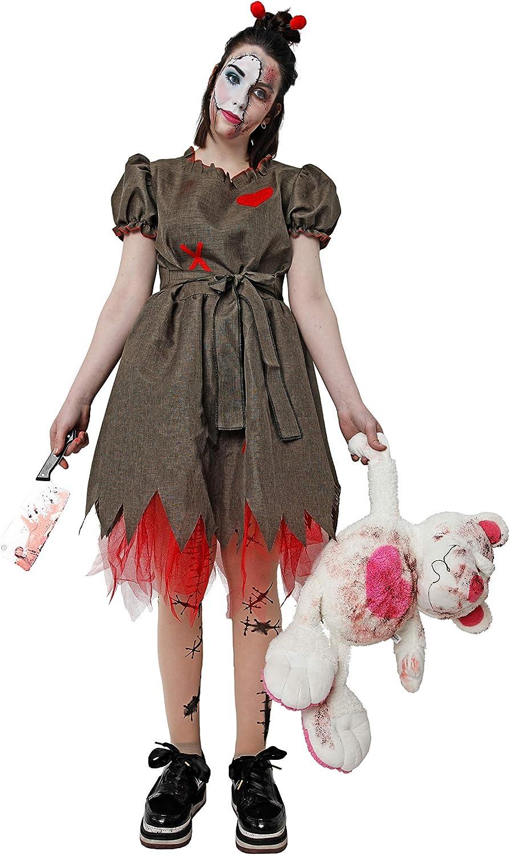 Costumizate! Disfraz de muñeca Zombie para Halloween Mujer Adulta ...