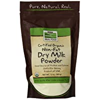 NOW Foods, Organic Non-Fat Dry Milk Powder with Protein and Calcium, Product of...