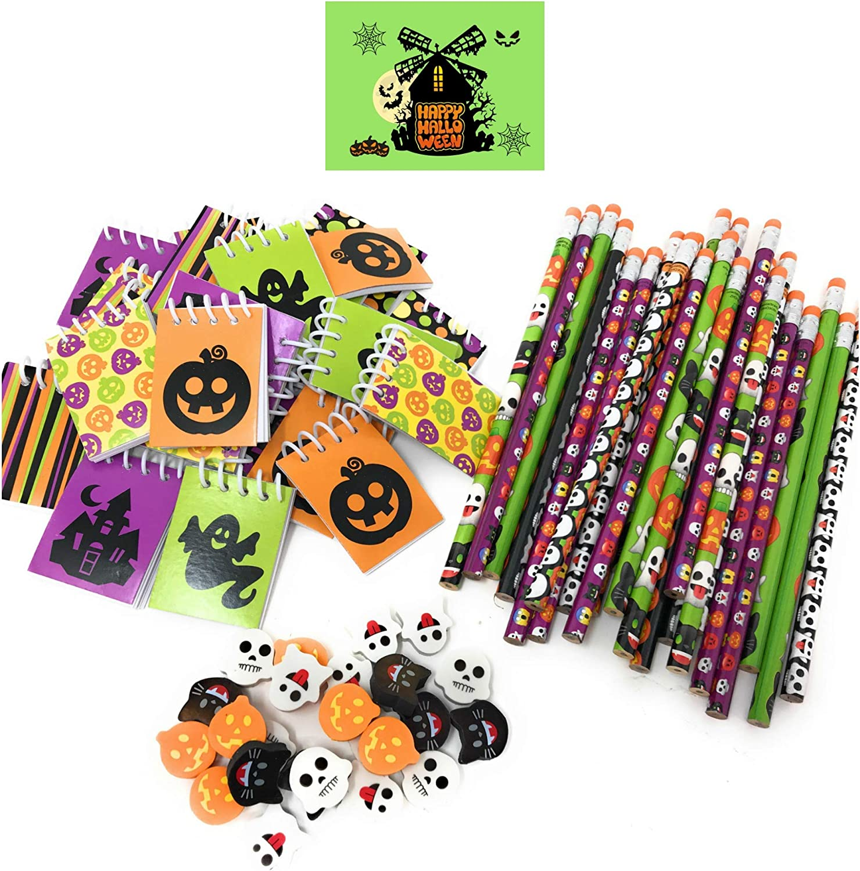 Pencil Top Erasers 144 Piece Halloween Party Favor