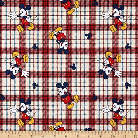 Springs YARD Disney Fabric Mickey /& Minnie Mouse Pop Art Gray Blocks