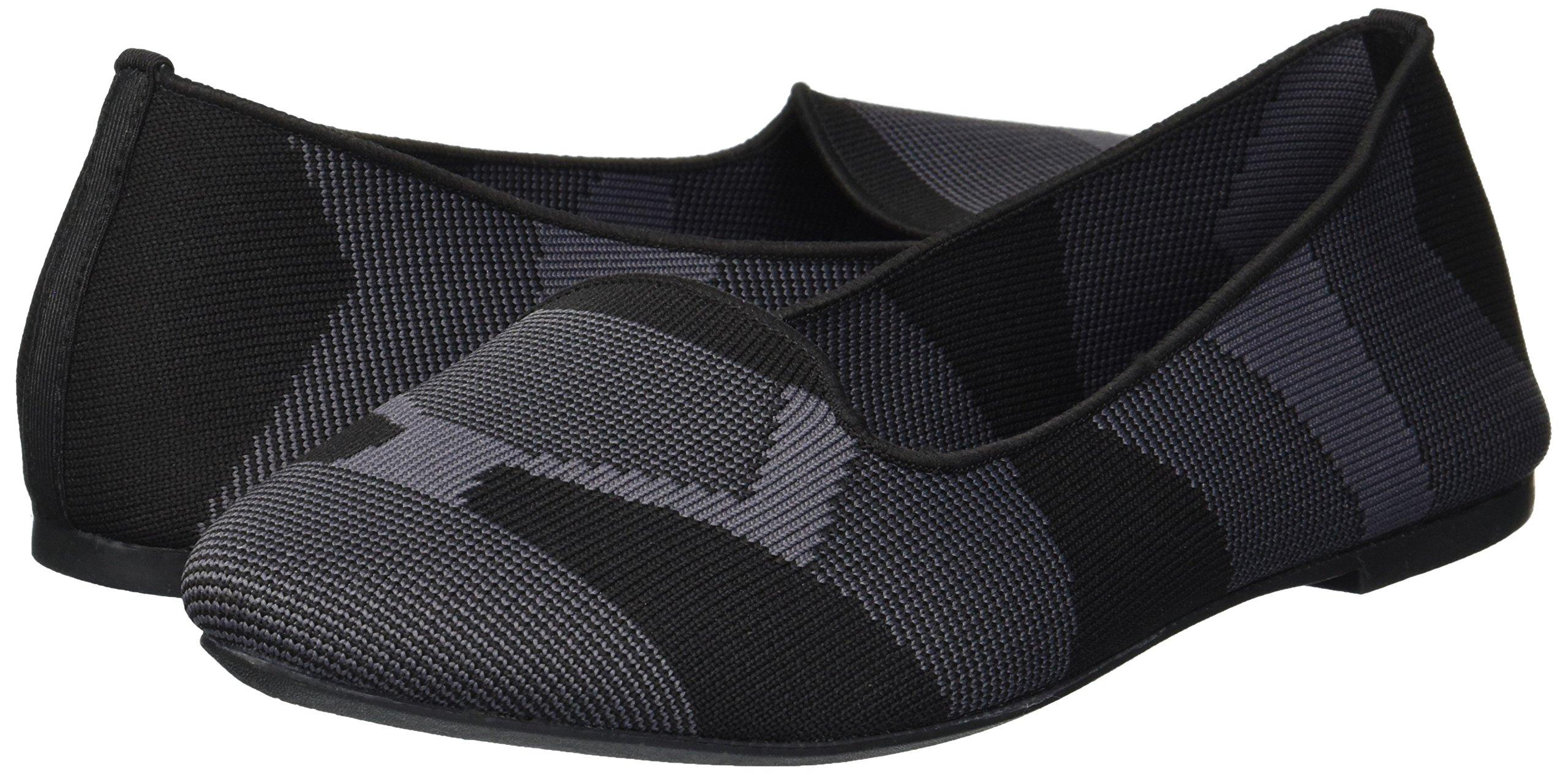 Skechers Women's Cleo-Sherlock-Engineered Knit Loafer Skimmer Ballet Flat, Black, 6.5 M US by Skechers (Image #5)