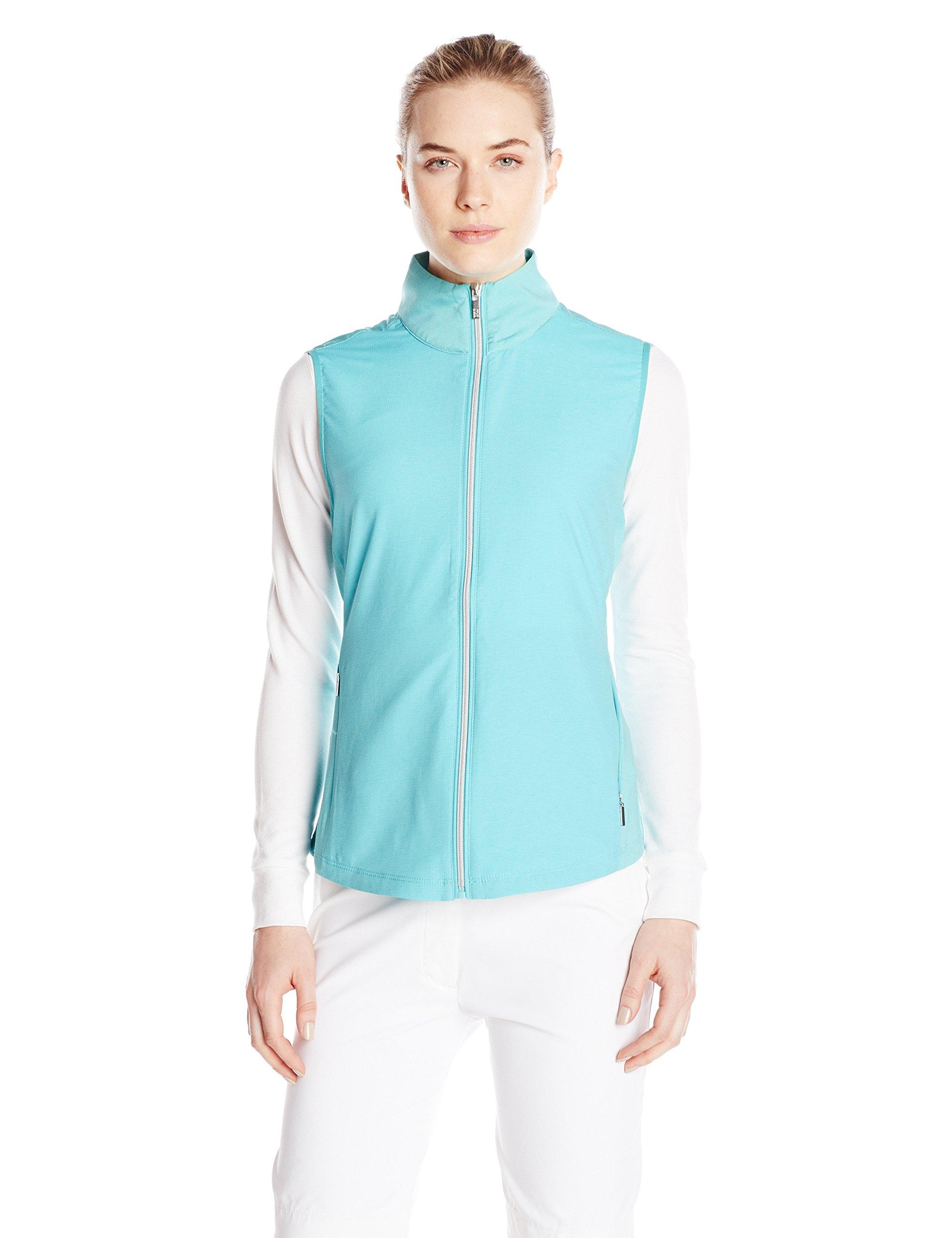 Cutter & Buck Women's CB Weathertec Laura Hybrid Vest, Quench, Small by Cutter