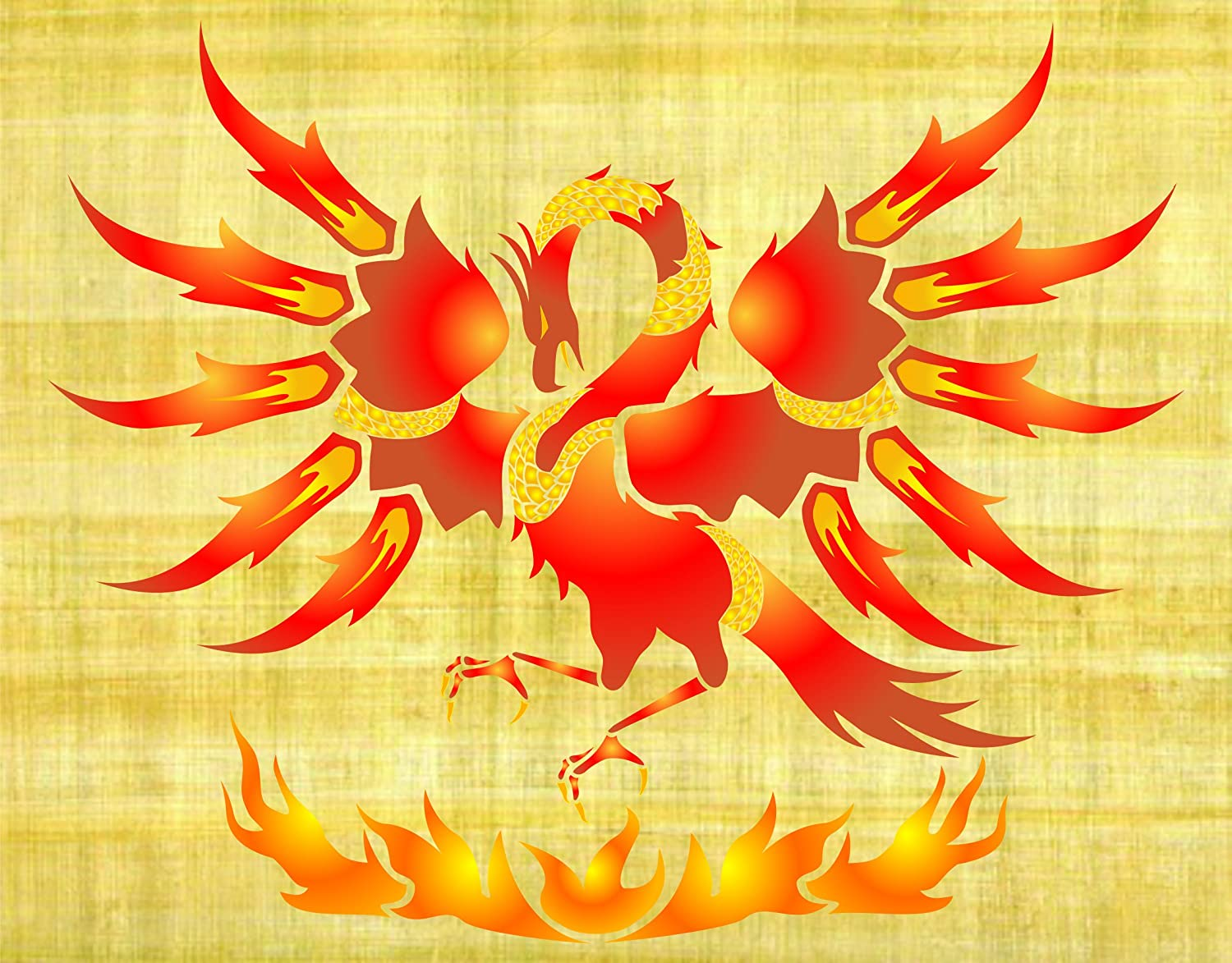 Amazon phoenix stencil size 85w x 7h reusable wall amazon phoenix stencil size 85w x 7h reusable wall stencils for painting best quality dragon wall art decor ideas use on walls floors amipublicfo Gallery