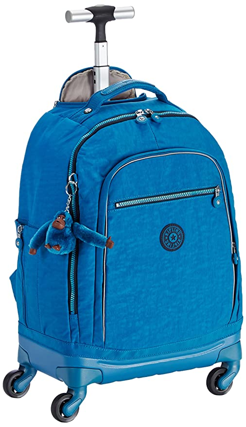 Kipling - ECHO - BOLSO ESCOLAR CON RUEDAS - Blue Green Mix - (Azul): Amazon.es: Equipaje