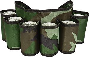 CHILDHOOD Adjustable Beer Belt Holder Beer & Soda Can Holster Belt, Holds 6 Beverages, Big HIT for Gag Gift Swap