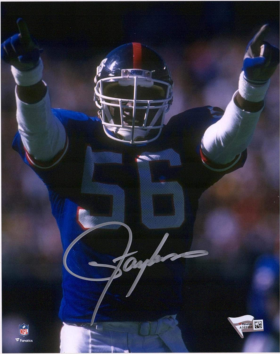 Lawrence Taylor New York Giants Autographed 8' x 10' Hands Pointed Photograph - Fanatics Authentic Certified