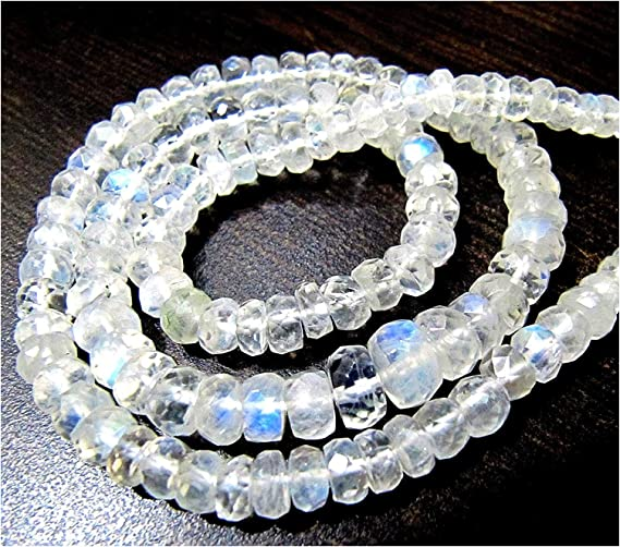 100/% natural 16 inch Gorgeous peach moonstone faceted rondelle strand,8-11mm mooonstone rondelles