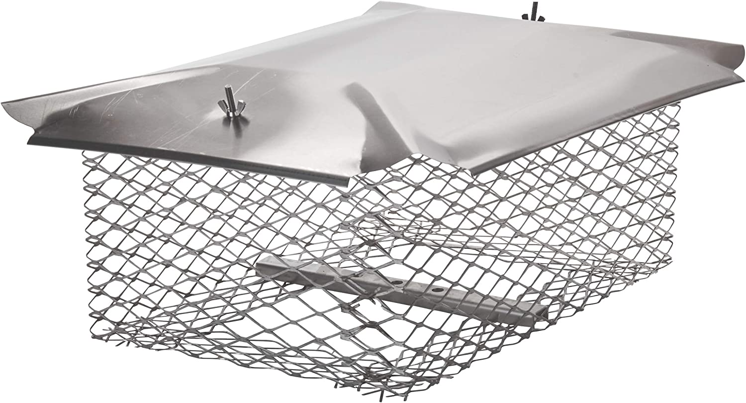Universal Covers U1320s34 Universal Chimney Cover With 3 4 Stainless Steel Mesh 13 X 20 Home Improvement