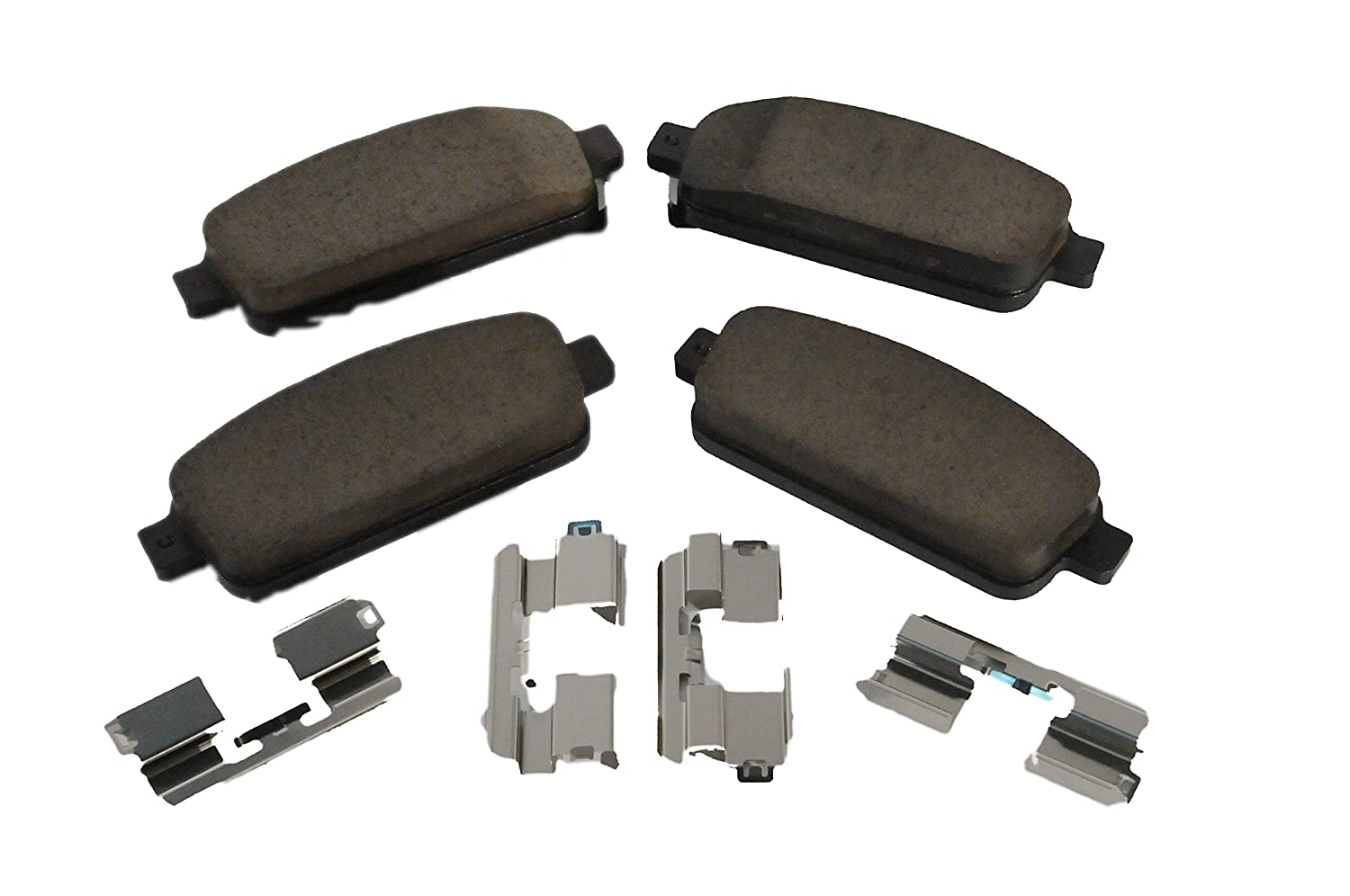 ACDelco 171-1004 GM Original Equipment Rear Disc Brake Pad Kit with Brake Pads and Clips