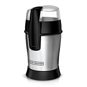 BLACK+DECKER CBG100S Bean Coffee Grinder One Size White,Stainless